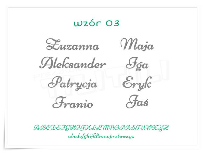 IMIONA (wzór 03)